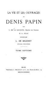 Le vie et les ouvrages de Denis Papin: Correspondence