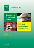 Newspapers of the World Online  U S  and International Perspectives PDF