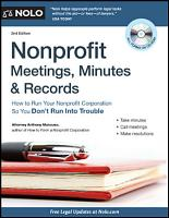 Nonprofit Meetings  Minutes   Records PDF