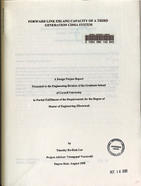 Forward Link Erlang Capacity of a Third Generation CDMA System PDF