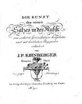 Die Kunst des reinen Satzes in der Musik: aus sicheren Grundsätzen hergeleitet und mit deutlichen Beyspielen erläutert, Band 2,Ausgabe 2