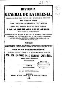 Historia general de la Iglesia desde la predicaci  n de los ap  stoles  hasta el pontificado de Gregorio XVI    PDF