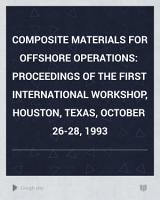 Composite Materials for Offshore Operations PDF