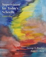 Supervision for Today s Schools  8th Edition PDF