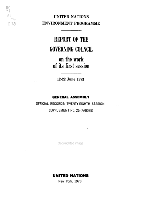 Report of the Governing Council on the Work of Its Session