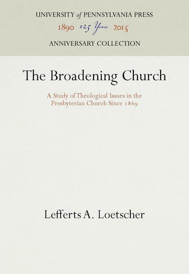 The Broadening Church PDF