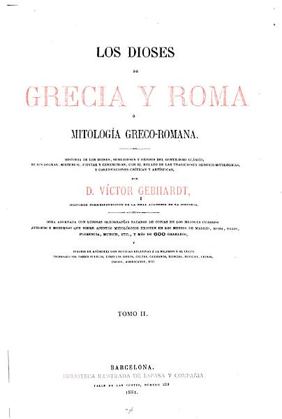 Los Dioses De Grecia Y Roma O Mitologia Greco Romana