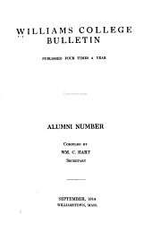 Williams College Bulletin - Alumni Number