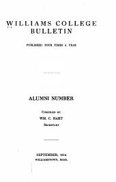 Williams College Bulletin - Alumni Number
