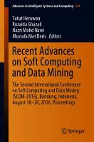 Recent Advances on Soft Computing and Data Mining PDF