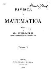 Rivista di matematica: Volume 5