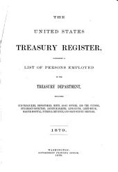 The United States Treasury Register Containing a List of Persons Employed in the Treasury Department: Including Subtreasuries, Mints, Assay Offices, and the Customs, Steamboat-inspection, Revenue-marine, Life-saving, Light-house, Marine-hospital, Internal-revenue, and Coast-survey Services