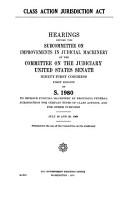 Class Action Jurisdiction Act PDF
