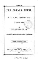 The pedlar duped  or  Wit and ignorance PDF