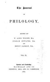 The Journal of Philology: Volume 9