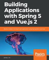 Building Applications with Spring 5 and Vue js 2 PDF