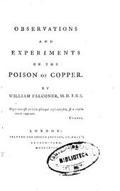 Observations and Experiments on the Poison of Copper