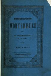 Burschicoses woerterbuch PDF