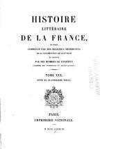 Histoire littéraire de la France: XIVe siècle