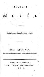 Goethe's Werke. Vollständige Ausg. letzter Hand