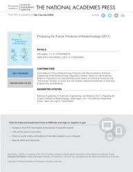 Preparing for Future Products of Biotechnology PDF