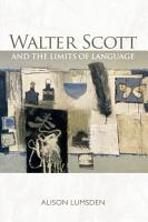 Walter Scott and the Limits of Language PDF