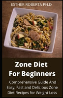 Zone Diet For Beginners Book PDF