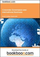 Corporate Governance and International Business PDF