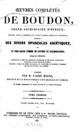 Oeuvres complètes: Publiécs par l'abbé Migne, Volume1