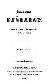Islenzk Gódabók Jóns Þorlákssonar: Bindi 1