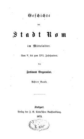 Geschichte der Stadt Rom im Mittelalter PDF