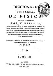 Diccionario universal de Física: Volumen 3
