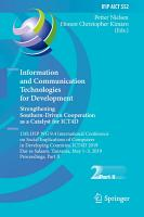 Information and Communication Technologies for Development  Strengthening Southern Driven Cooperation as a Catalyst for ICT4D PDF