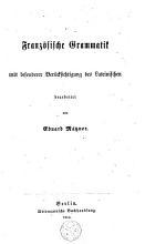Franz  sische Grammatik PDF