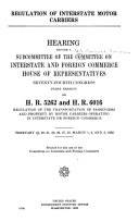 Regulation of Interstate Motor Carriers