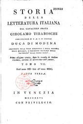 Storia della letteratura italiana del cavaliere abate Girolamo Tiraboschi...