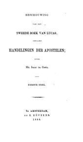 Beschouwing van het tweede boek van Lucas, genaamd Handelingen der apostelen