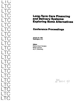 Long term Care Financing and Delivery Systems PDF