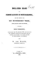 Hollands bloei in schoone kunsten en wetenschappen, by het sluiten van den Munsterschen vrede: voorlezing