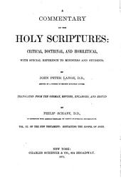 A Commentary on the Holy Scriptures: Critical, Doctrinal, and Homilectical, with Special Reference to Ministers and Students, Volume 3