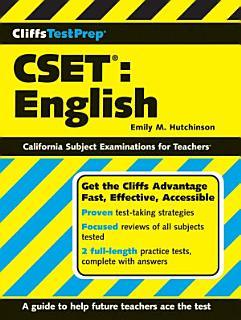 CliffsTestPrep CSET  English Book