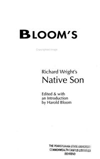 Richard Wright s Native Son