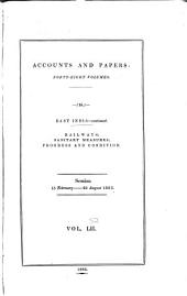 Parliamentary Papers, House of Commons and Command: Volume 52