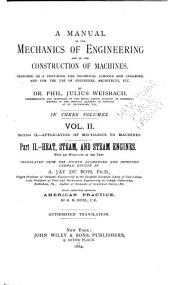 A Manual of the Mechanics of Engineering and of the Construction of Machines: Designed as a Text-book for Technical Schools and Colleges, and for the Use of Engineers, Architects, Etc, Volume 2, Part 2