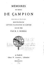 Mémoires de Henri de Campion