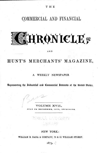 Download The Commercial   Financial Chronicle and Hunt s Merchants  Magazine Book