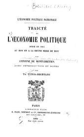 Traicté de l'œconomie politique: dedié en 1615 au roy et à la reyne mere du roy