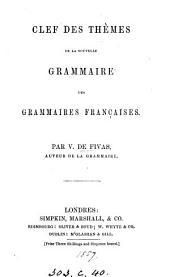 Clef des thèmes de la nouvelle grammaire des grammaires françaises