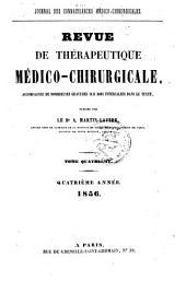 Revue de thérapeutique médico-chirurgicale: Volume 4