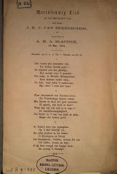 Meerstemmig lied op de bruiloft van den heer J.K.J. van Herberghen, en mejufvrouw A.M.A. Slaghek, 19 Mei, 1864